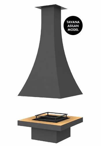 Hürsan Odunlu Orta Şömineler - KAVİS