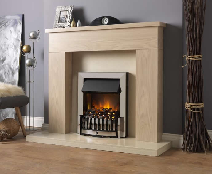 Electric Fireplaces - Danville Chrome