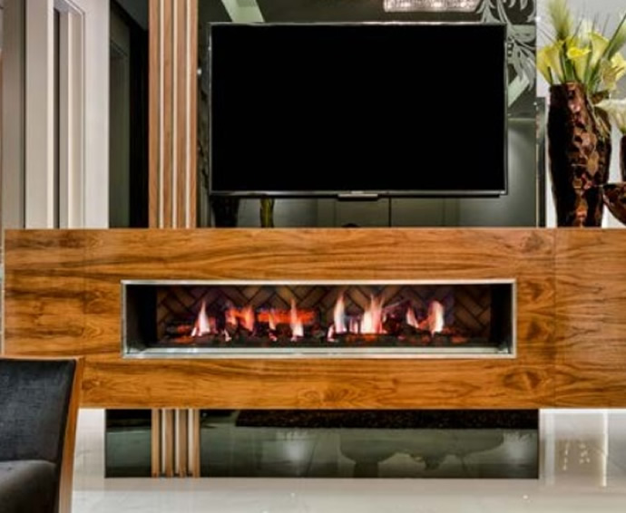 Electric Fireplaces - Opti V Double