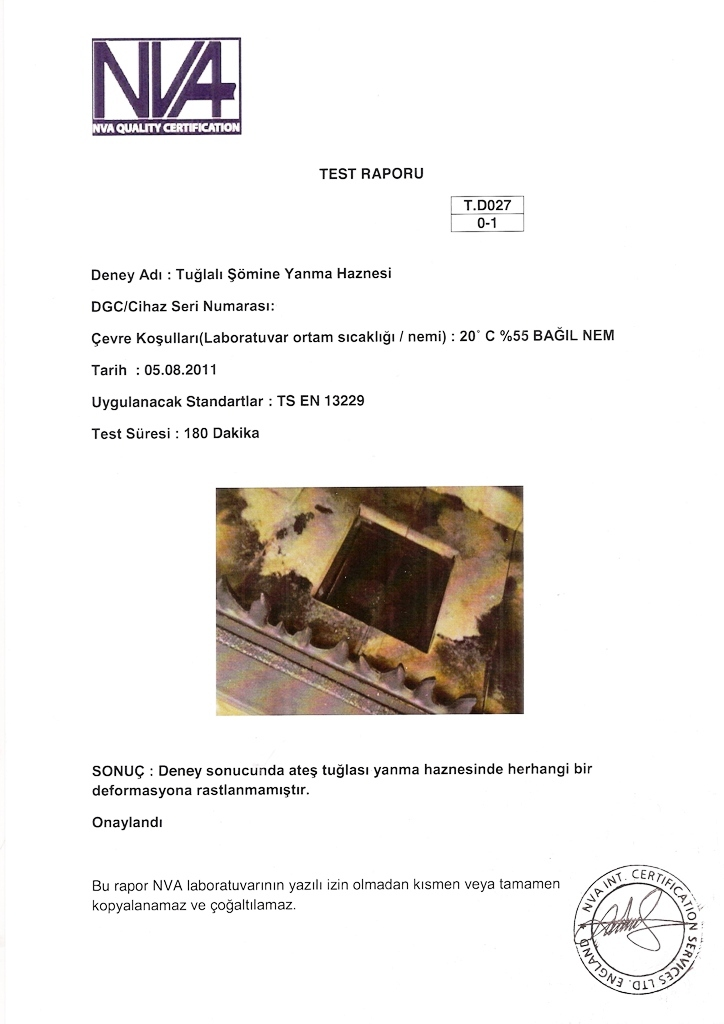Brick Fireplace Inserts Test Reports