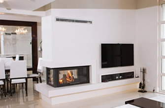 Double-Sided Fireplace Surrounds